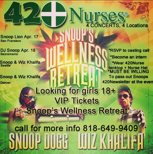 Snoop Dogg Wiz Khalifa 420Nurses in COLORADO