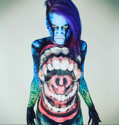 Would you like to get a body paint?