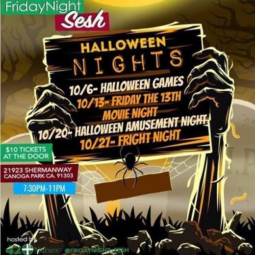 Friday Night Sesh Halloween!!